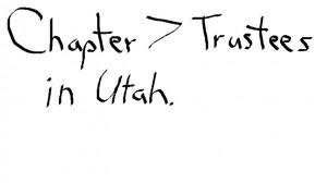 chapter 7 trustees in Utah